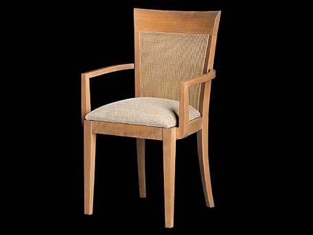 Loto sillón Respaldo Rejilla Roble Blanqueado