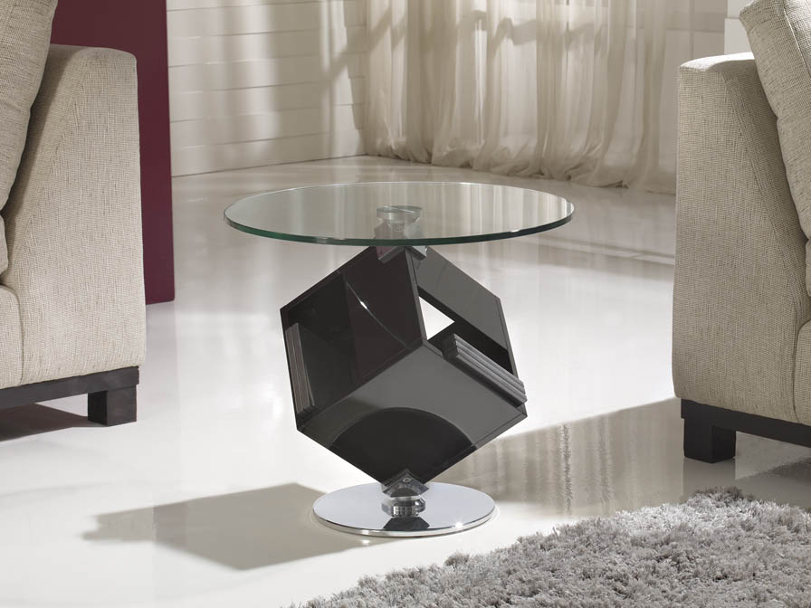Cubic corner table box CDs 72 metal/DM