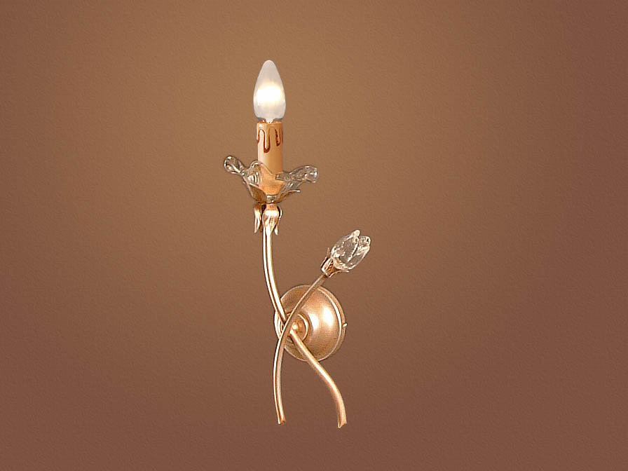 Rebeca Wall Lamp 2L left Gold Polichromed/Glass Murano ámbar