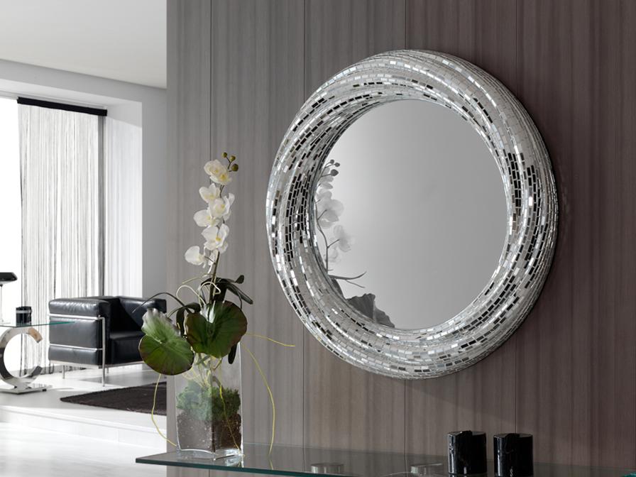 Gaudi miroir Rodas Ronde ø84 Argent