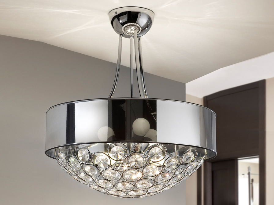Luppo Pendant Lamp G9 Chrome Glass facetado