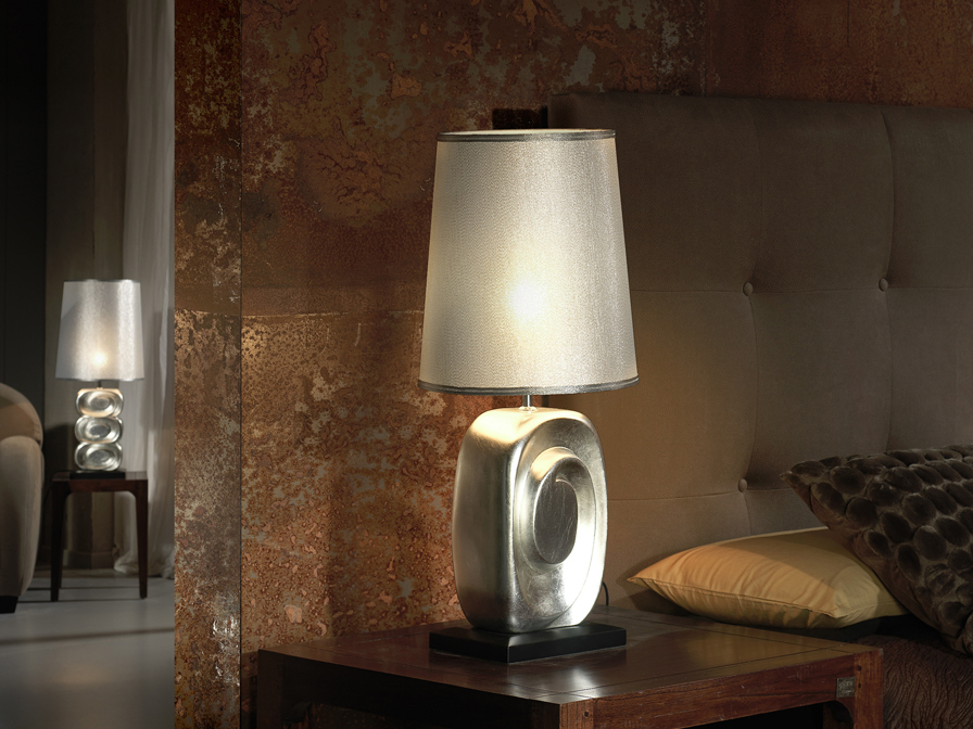 Minos Table Lamp 59cm Silver