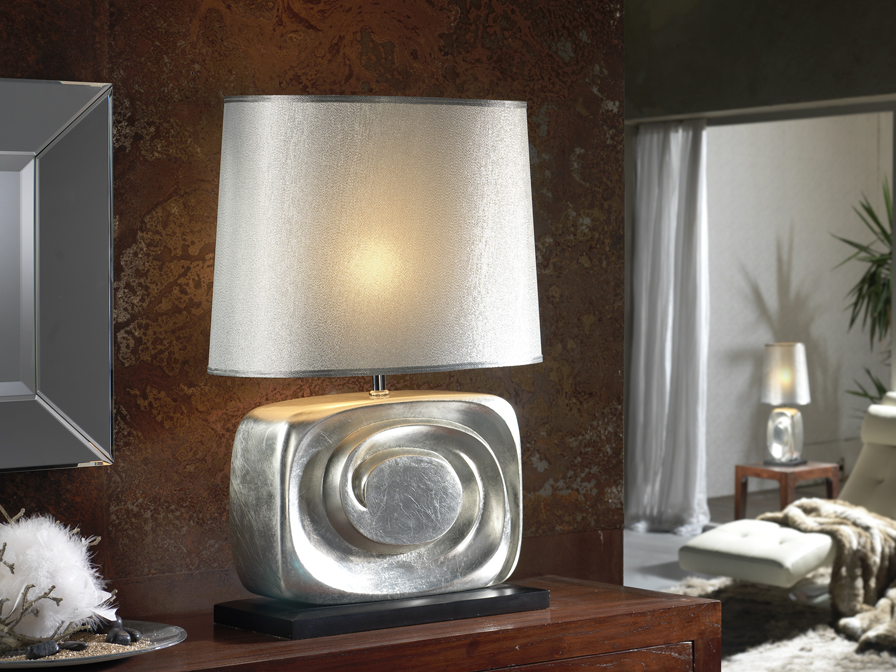 Minos Table Lamp 70cm Silver
