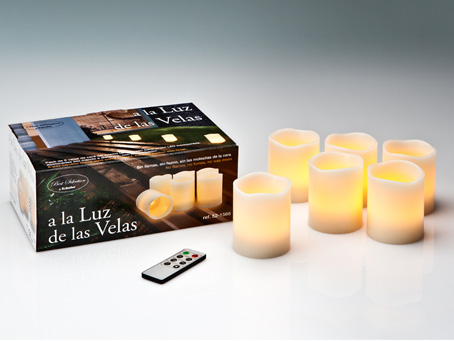Vela LED Set 6 with remote to Distancia Velas LED