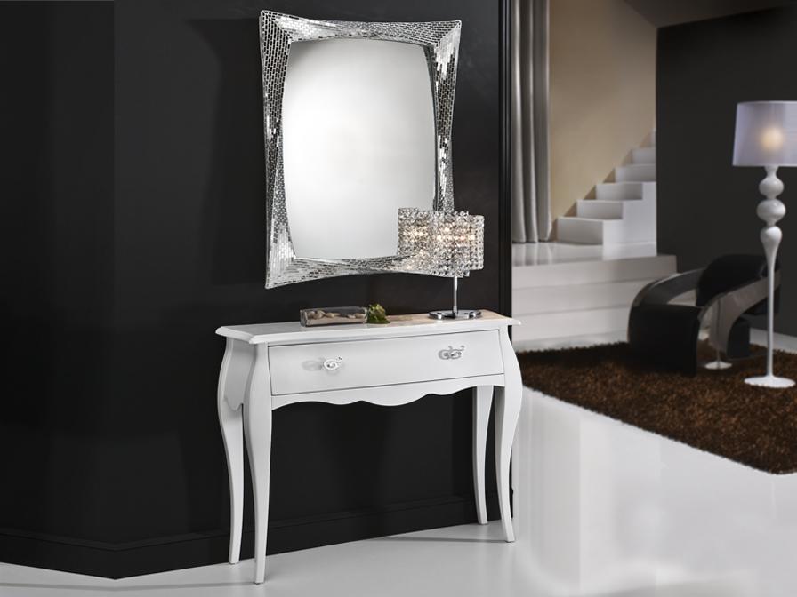 Venecia mueble consola color blanco