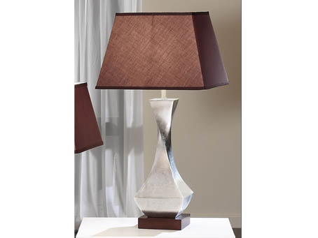 Deco Table Lamp Silver with lampshade