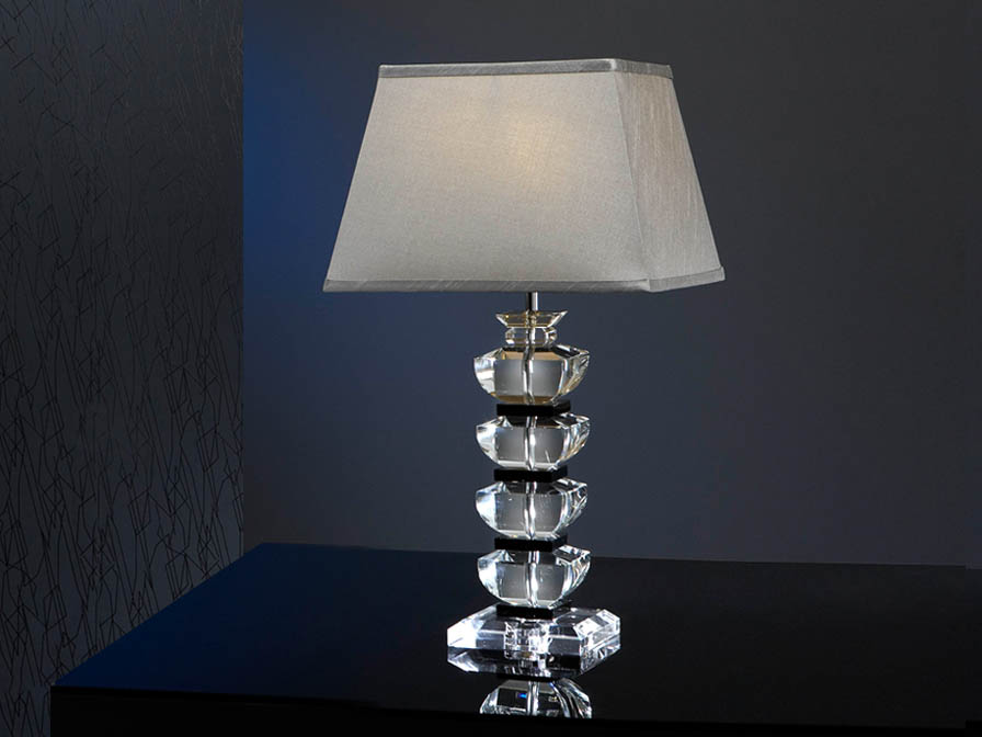 Corinto Table Lamp Glass Large 1L