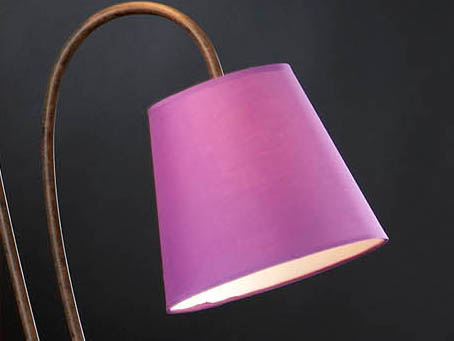 lampshade purple for lámpara of Floor Lamp Alma