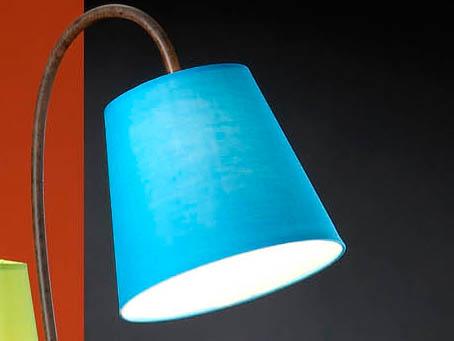pantalla Azul lámpara de Pie Alma