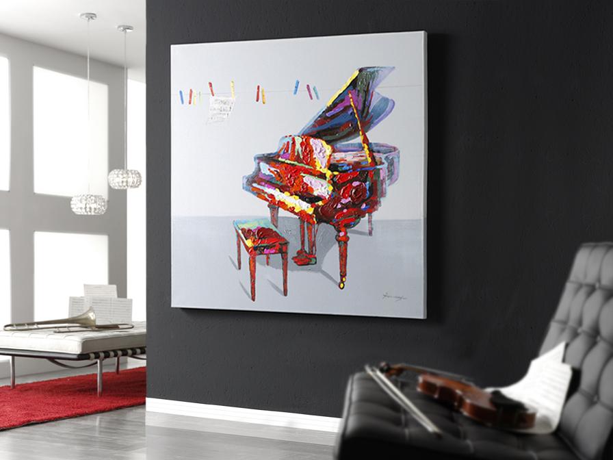 Partitura Cuadro acrylique 120x120cm