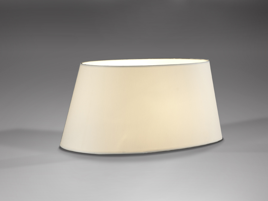 lampshade oval white 42x26x20cm