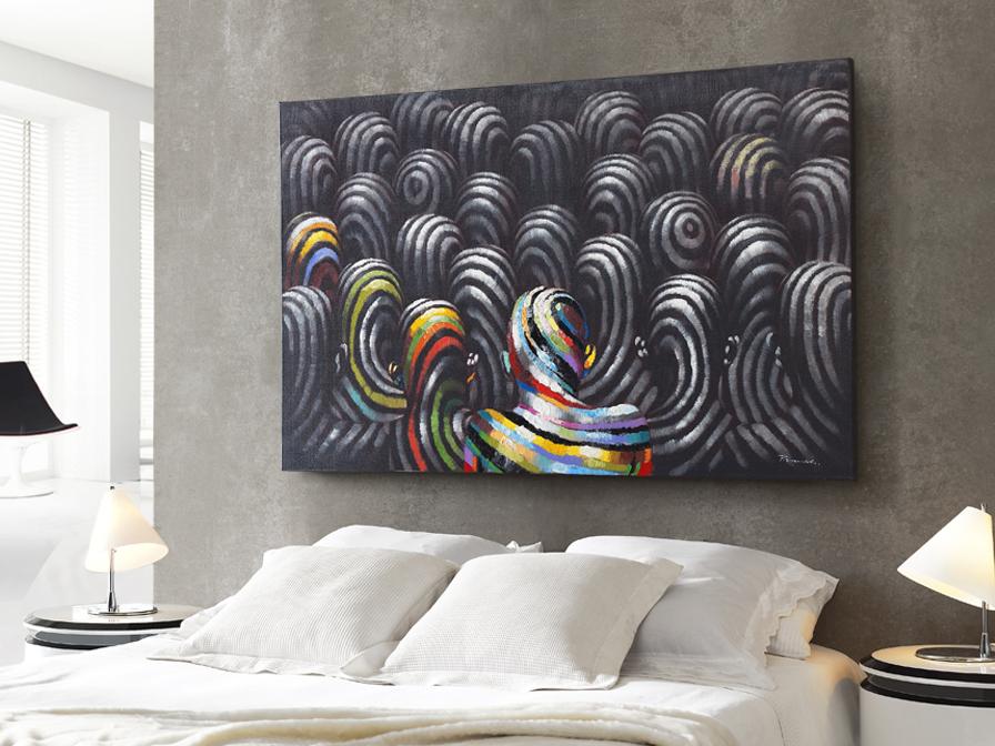 Cuadro acrylic Miradas 90x140cm