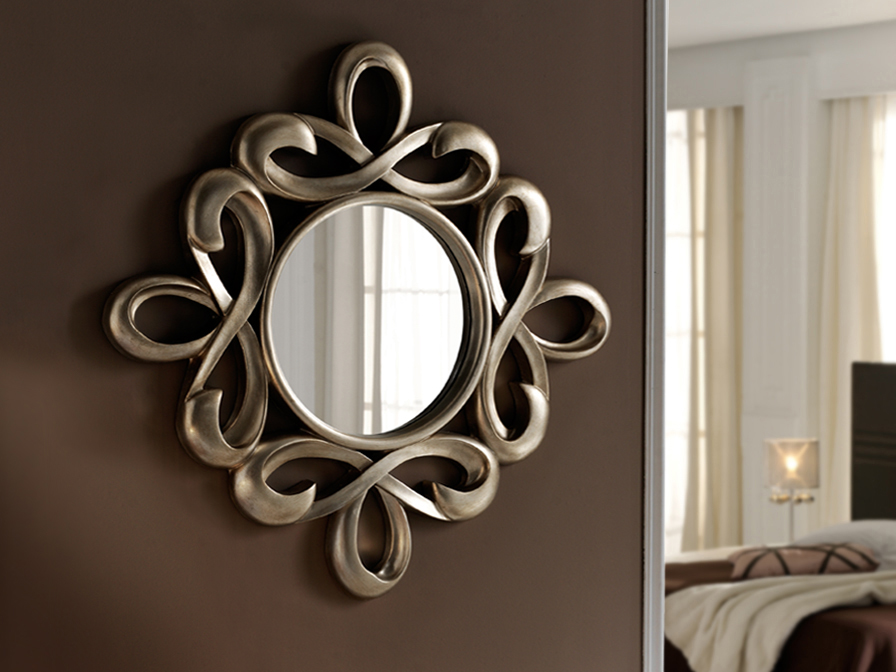 Abril mirror Silver
