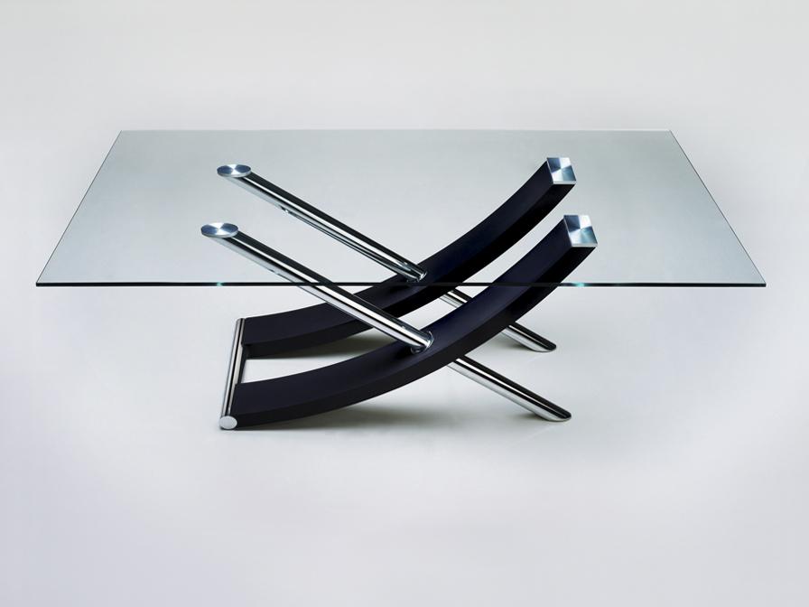 Ulises mesa de centro color Cromo/negro