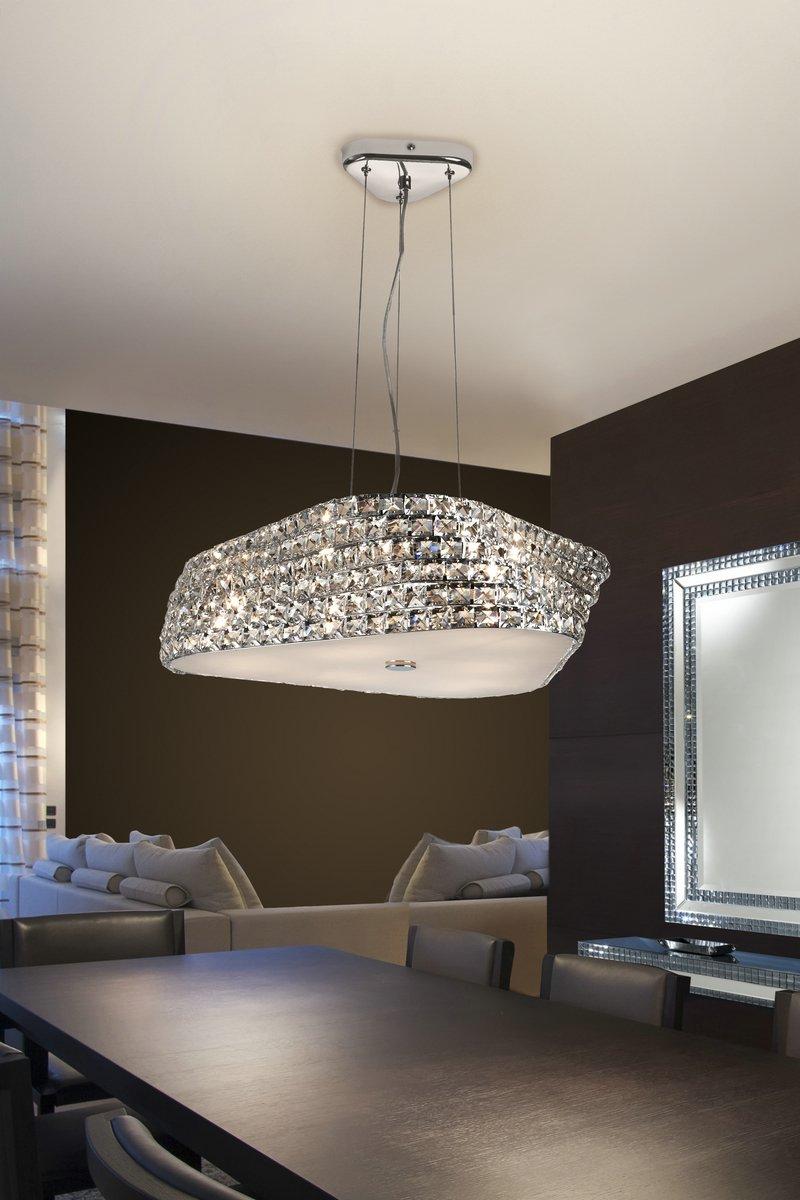 Elis Lámpara Colgante 6xG9 42W Cristal transparente