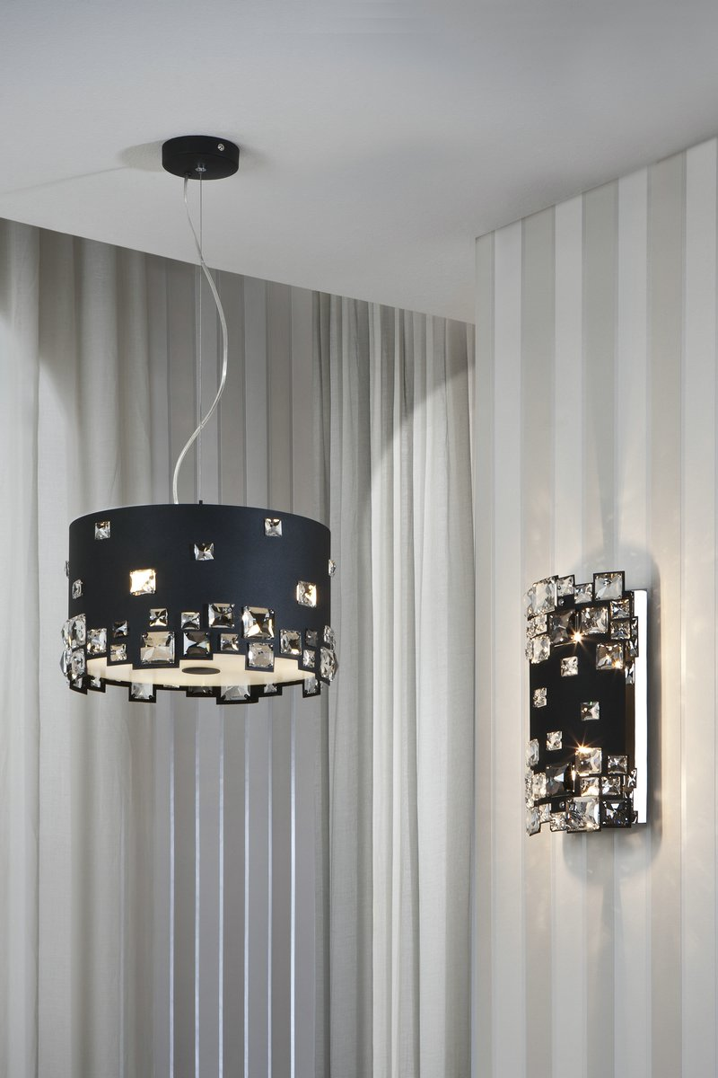 Mitra Wall Lamp 2L Black