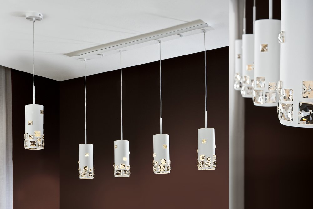 Mitra Pendant Lamp linear 4L white