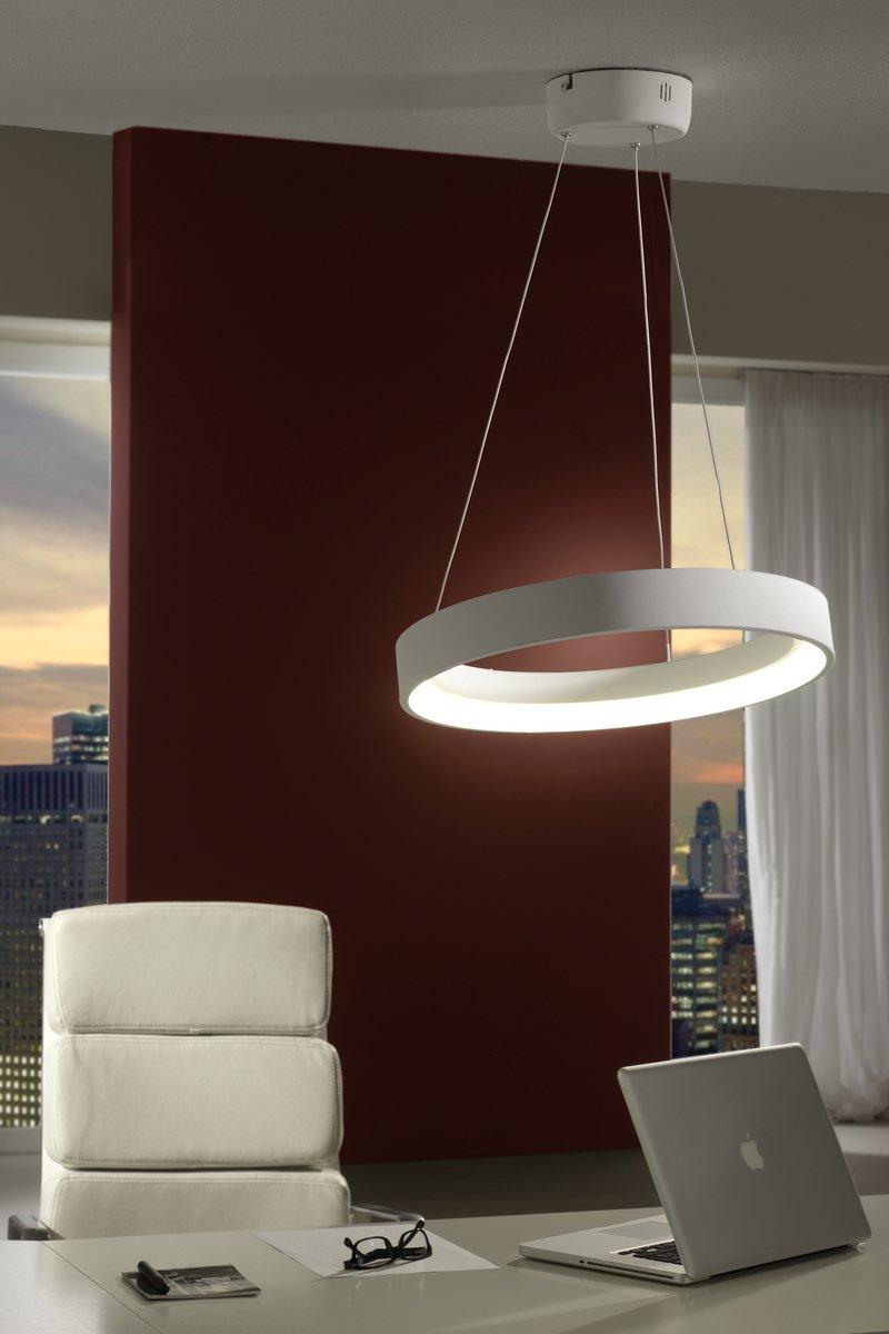 Cronos Lámpara Colgante ø45 LED 28W Blanco mate texturizado