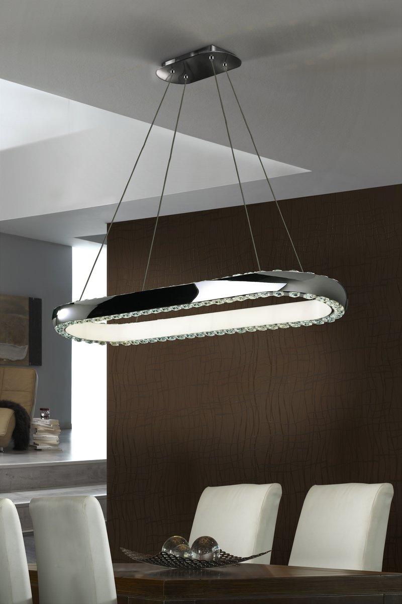 Star Pendant Lamp oval LED (Cold Light 4000ºK) Chrome