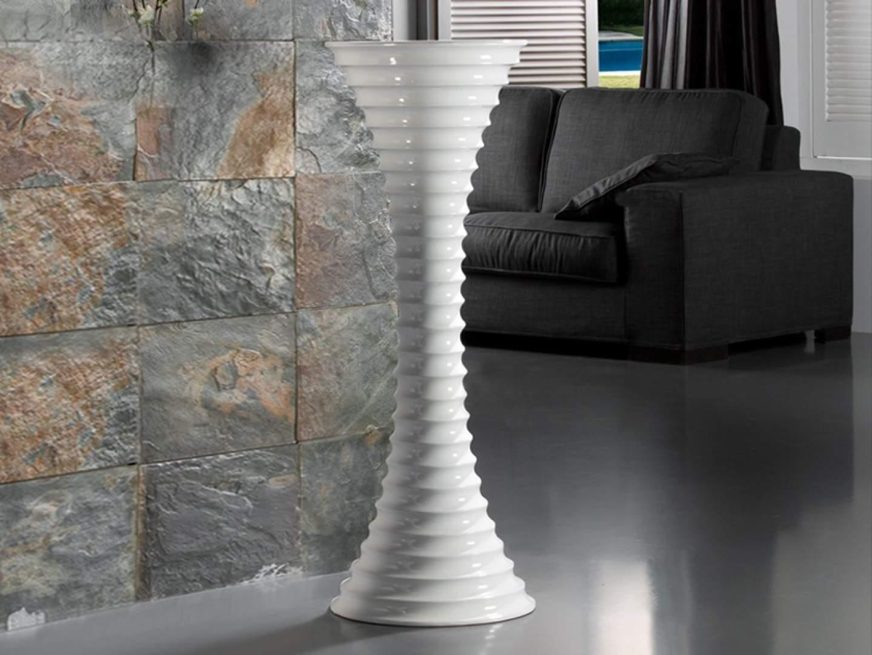 Jarrón Leire 120 fibra of Glass white