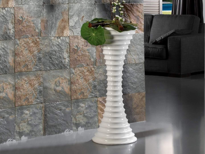 Jarrón Leire 101 fibra of Glass white