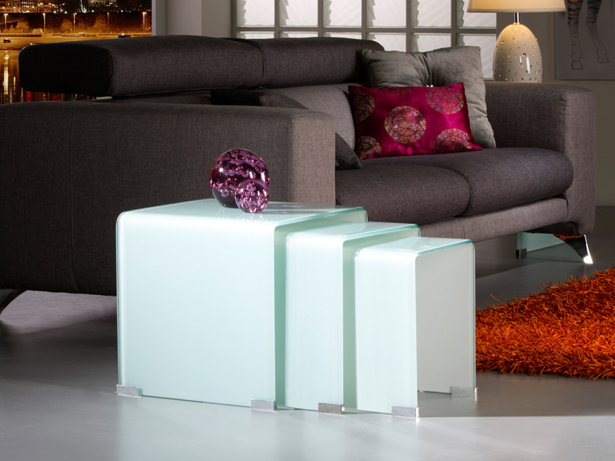 Glass Tables Nido white