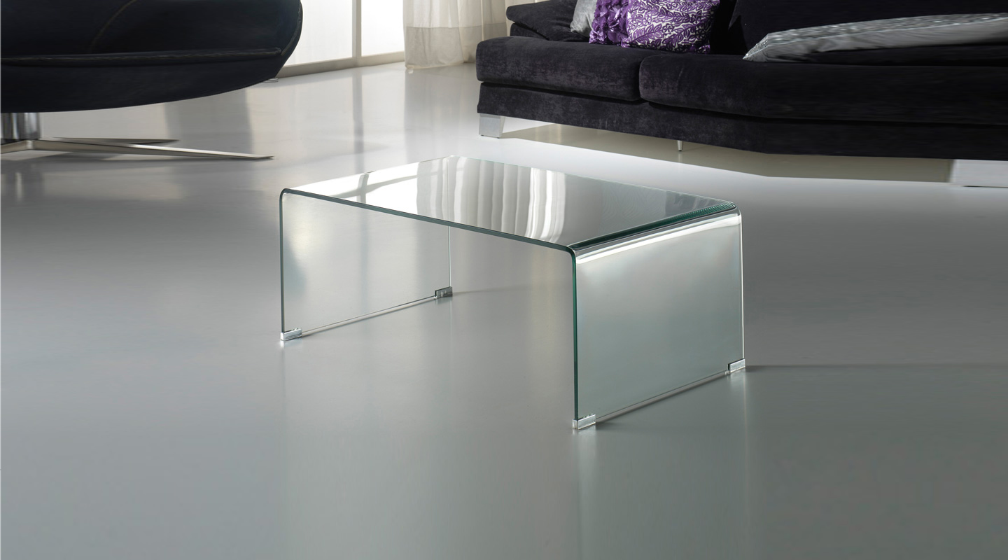 Glass coffee table 110x40x60 Transparent