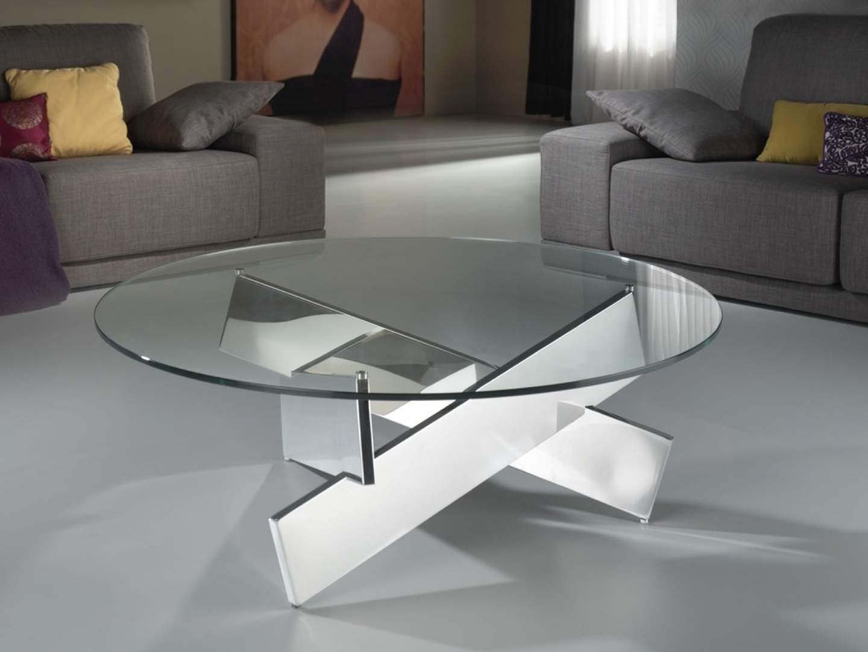 Denver Mesa de Centro ø105x39cm Acero y cristal