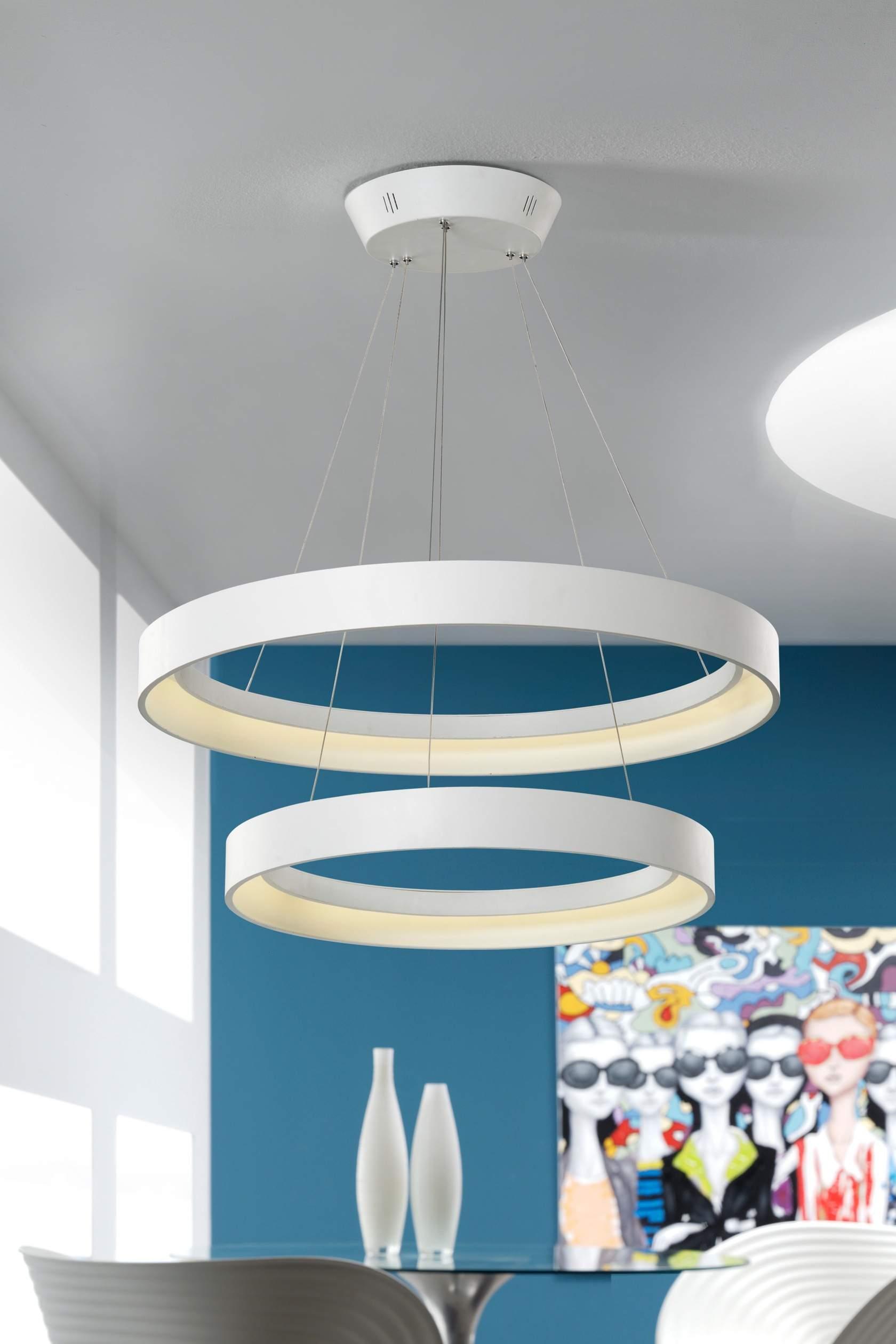 Cronos Lámpara Colgante LED Doble blanco