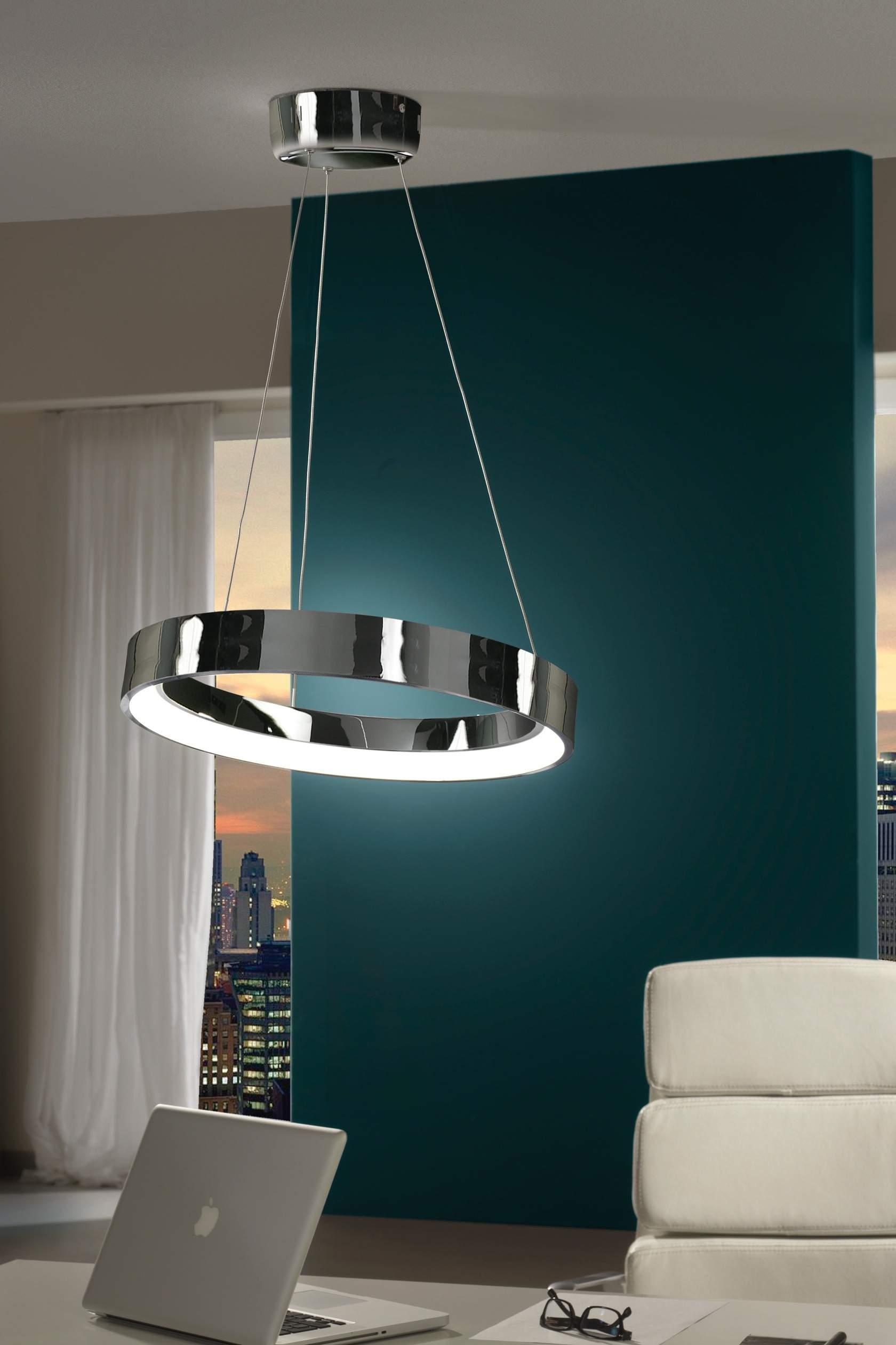 Cronos Lámpara Colgante LED Cromo