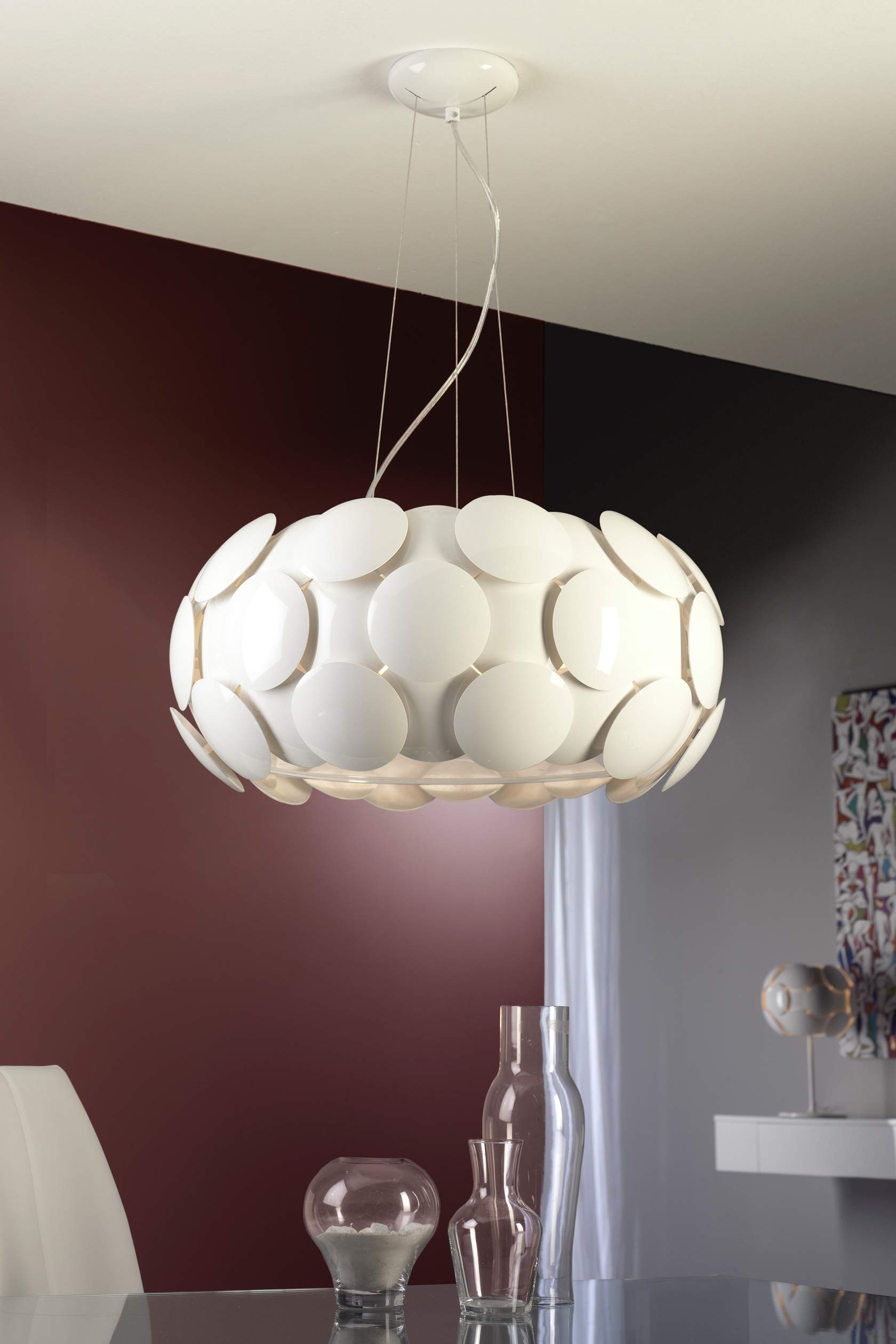 Egea Suspension ø60 7xE27 LED 10W blanc