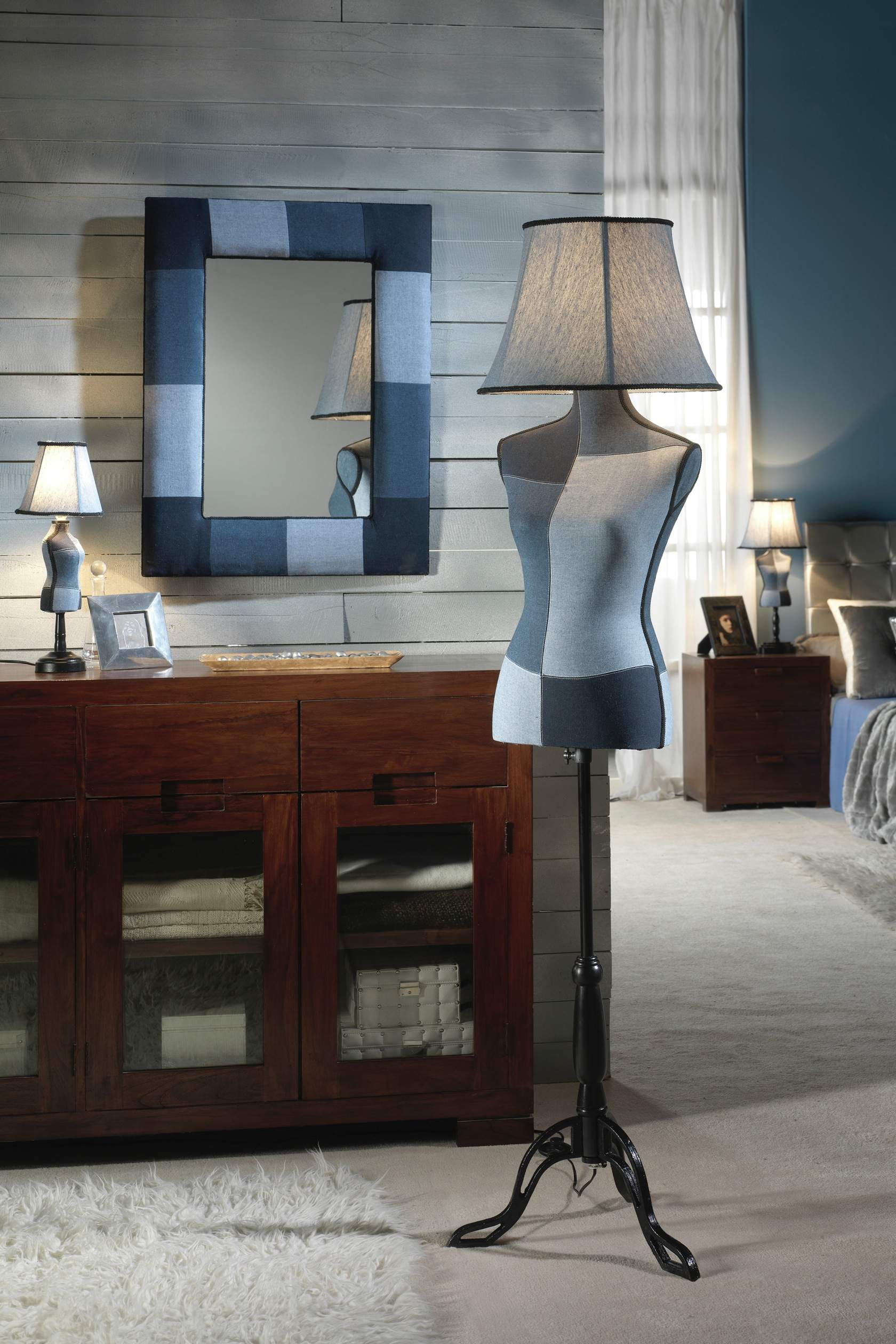 Vogue lámpara of Floor Lamp Denim