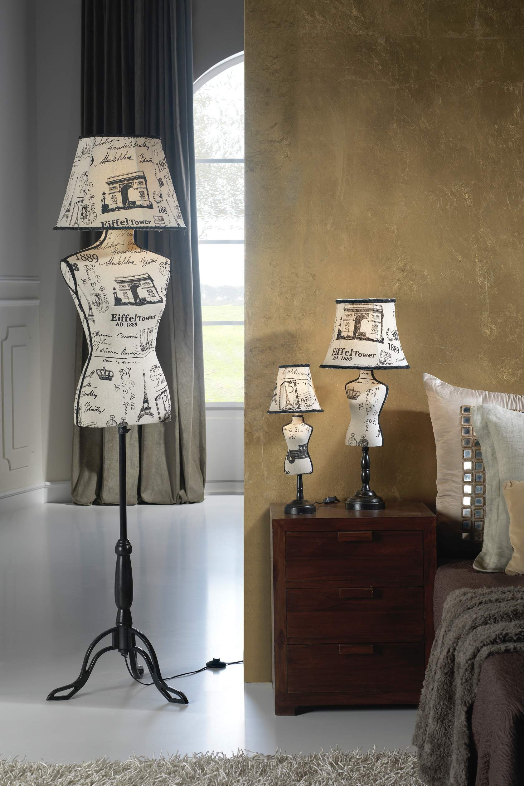 Vogue lámpara of Floor Lamp E27 30W Paris