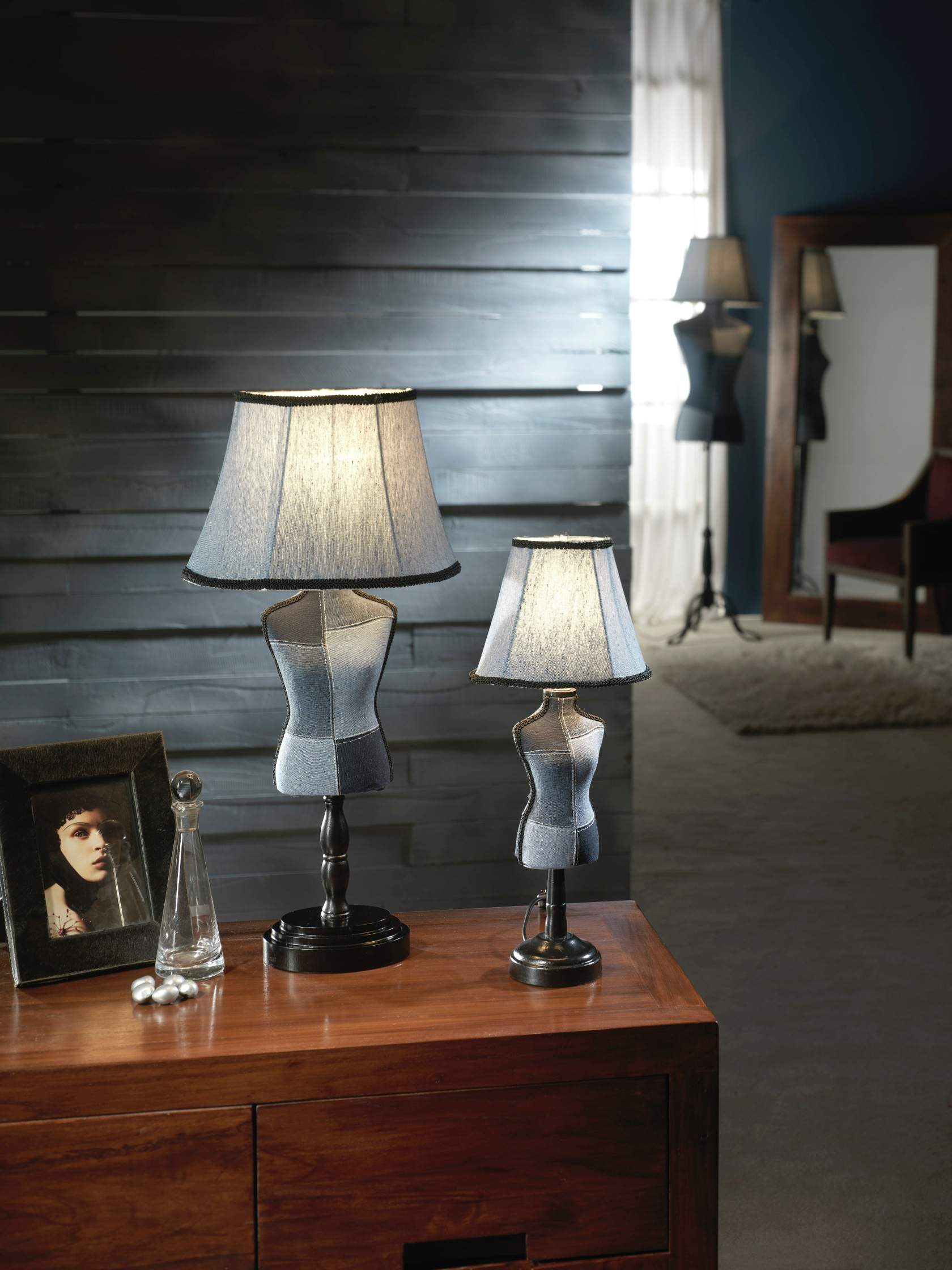 Vogue Table Lamp Small E14 25W Denim