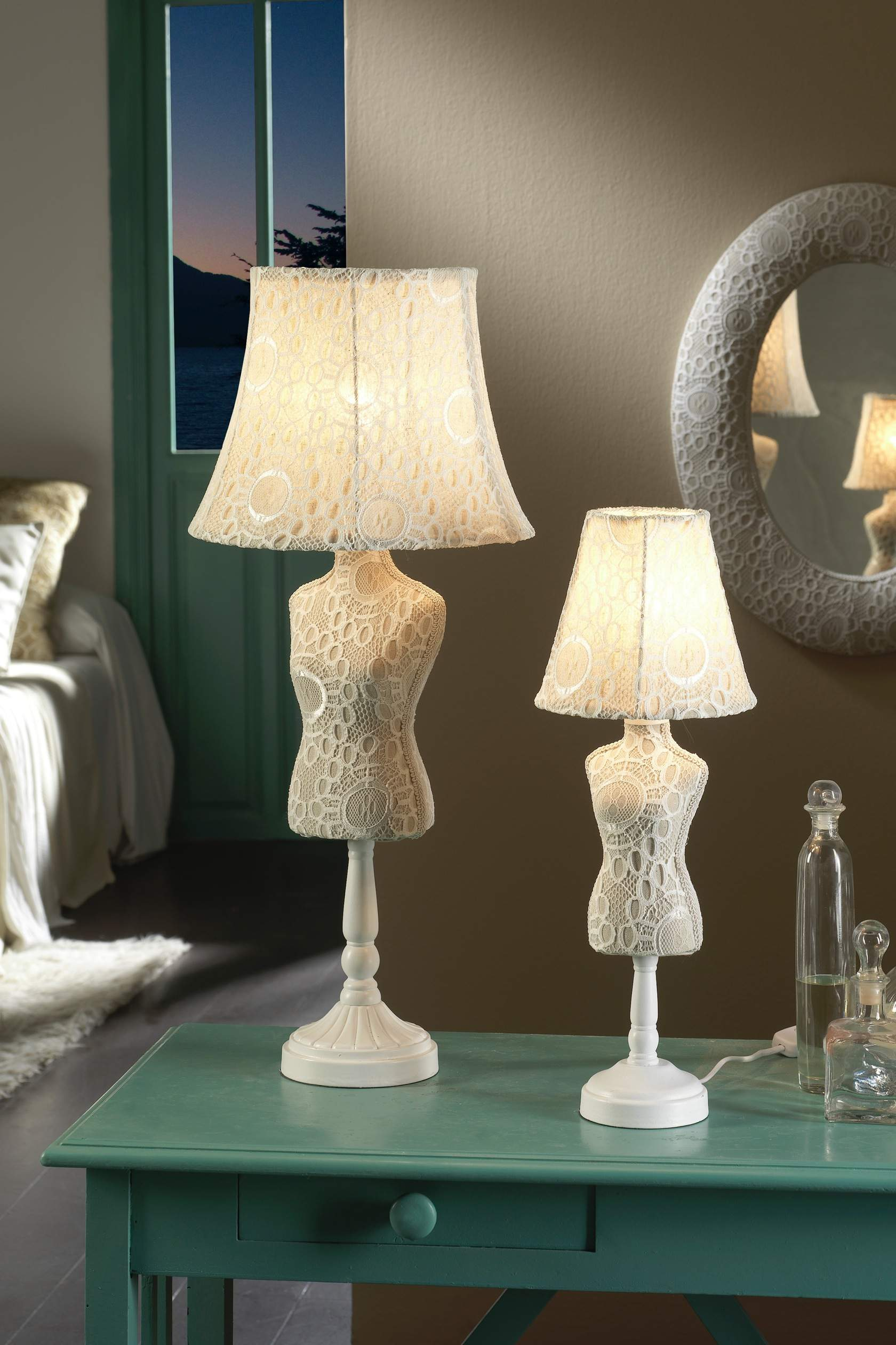 Vogue Table Lamp Small Croche