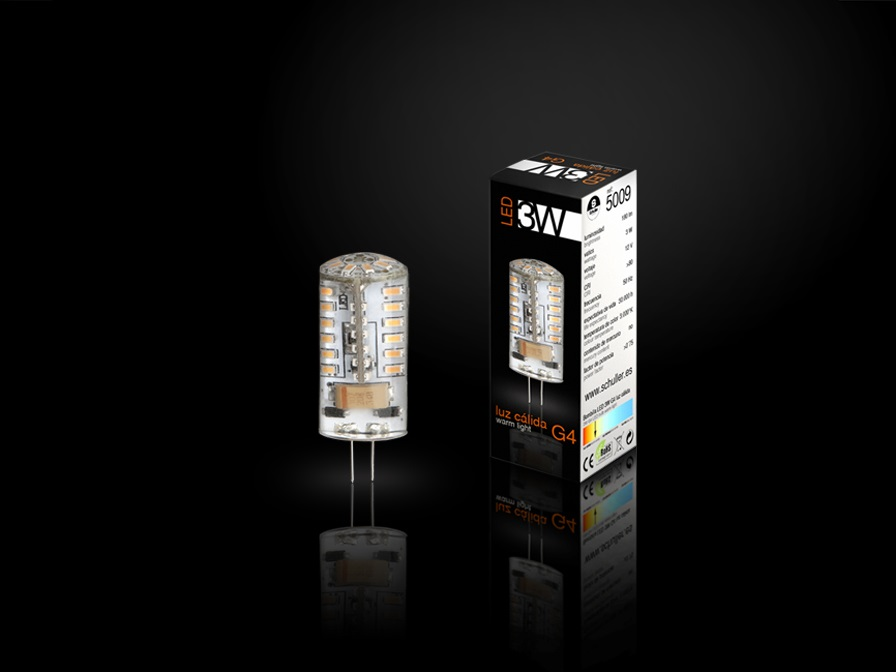 Bombilla LED G4 3000K 3W