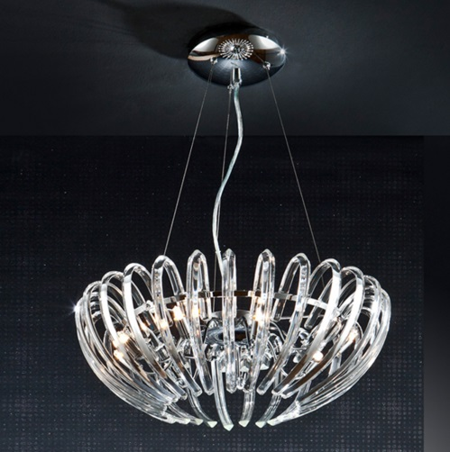 Ariadna Pendant Lamp 9xG9 LED 4W Chrome
