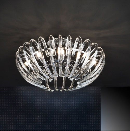 Ariadna ceiling lamp 9xG9 LED 4W Chrome