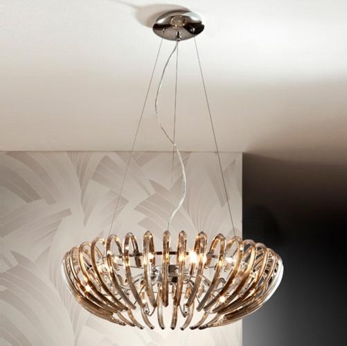 Ariadna Lámpara Colgante 12xG9 LED 4W Champagne