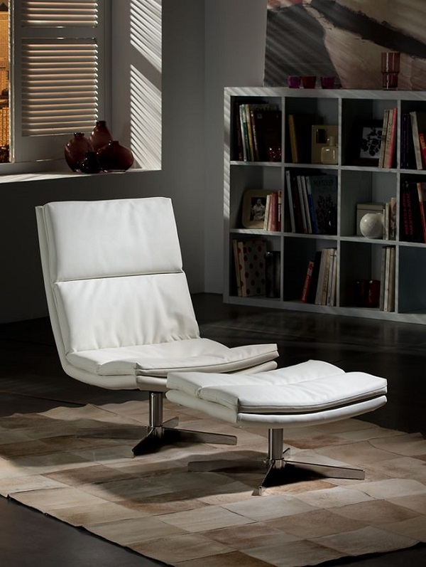 Atlanta armchair 84x62cm - Ecopiel white