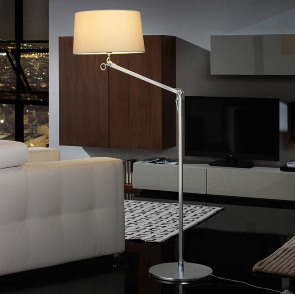 Atlas Floor Lamp 1L Grey Anodized