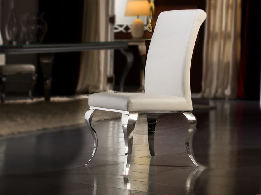 Barroque chair steel white