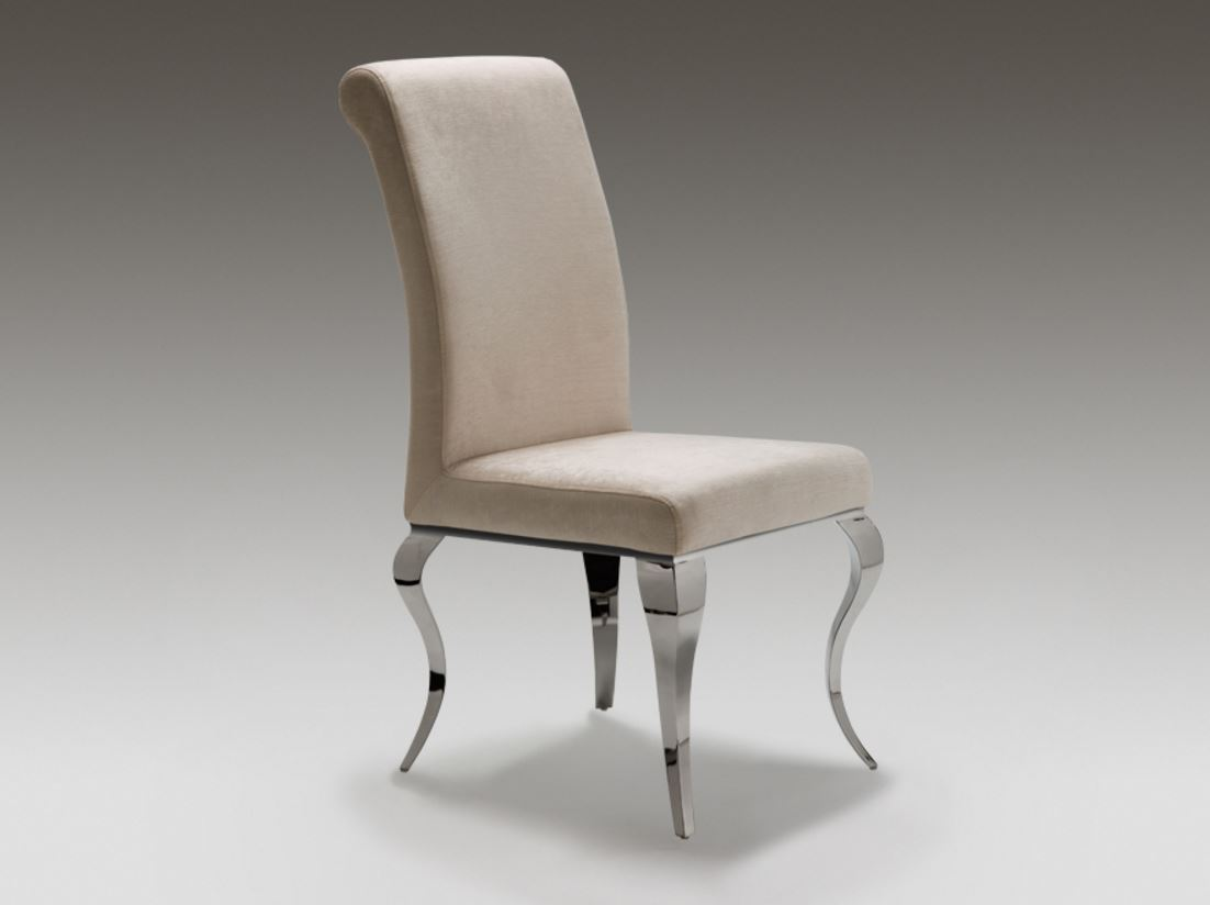 Barroque chair steel Grey