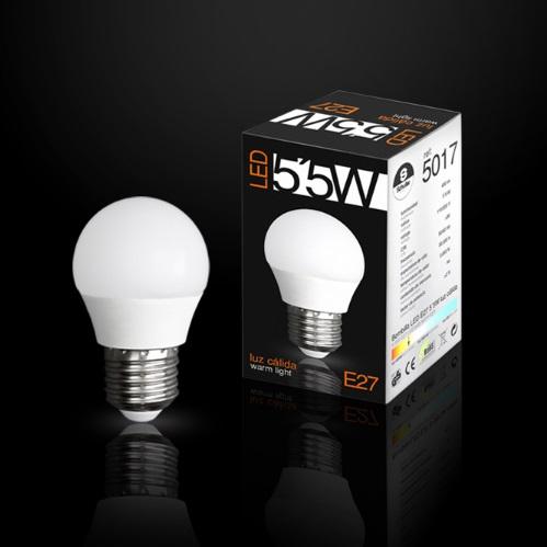 Bombilla LED globo E27 3000K 5,5W