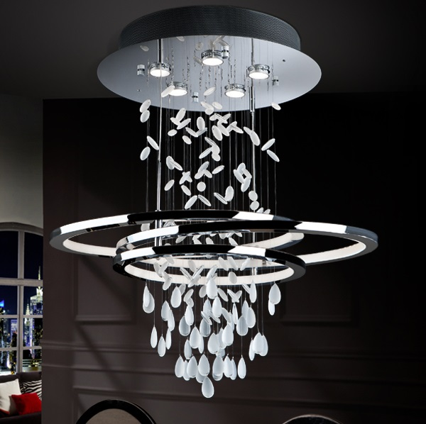 Bruma Pendant Lamp pequeña 5L + tira LED 68W Chrome