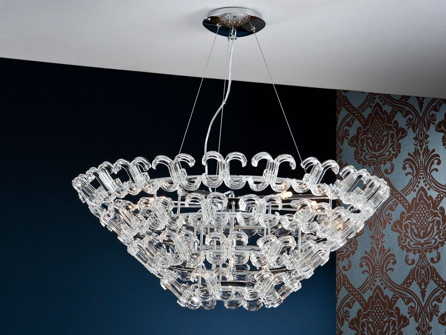 Calima Pendant Lamp 12L G9 42w bright chrome/Glass