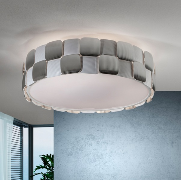 Coras ceiling lamp 6L E27 LED 10W white matt and Chrome