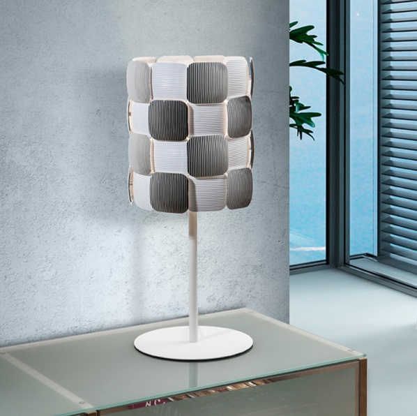 Coras Table Lamp 1L E27 LED 10W white matt and Chrome