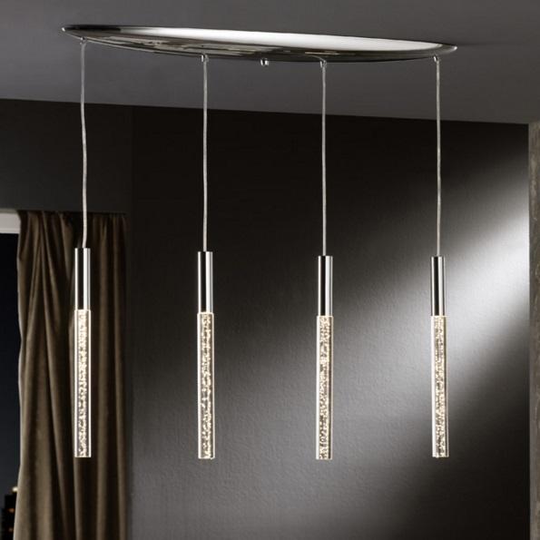 Cosmo Pendant Lamp 4x20W LED bright chrome