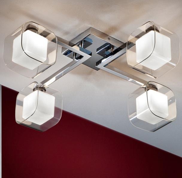 Cube Plafón 4xG9 LED 6W Cromo